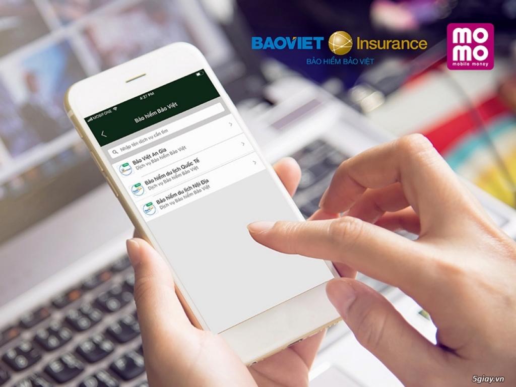 Momo giảm giá 15% khi mua sản phẩm bảo hiểm Bảo Việt