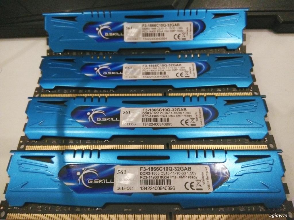 [HCM] G.Skill - Ares Series 32GB (4 x 8GB) DDR3-1866 (PC3 14900) C10 - 1