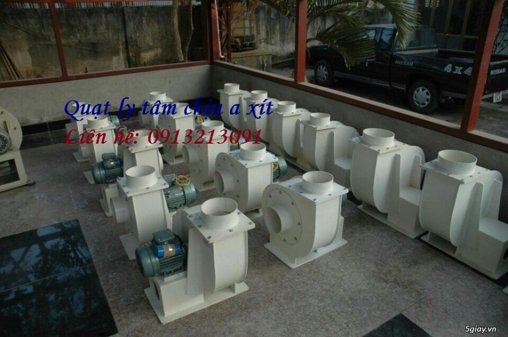 Quạt li tâm hút khí thải chịu hóa chất a xít - 1