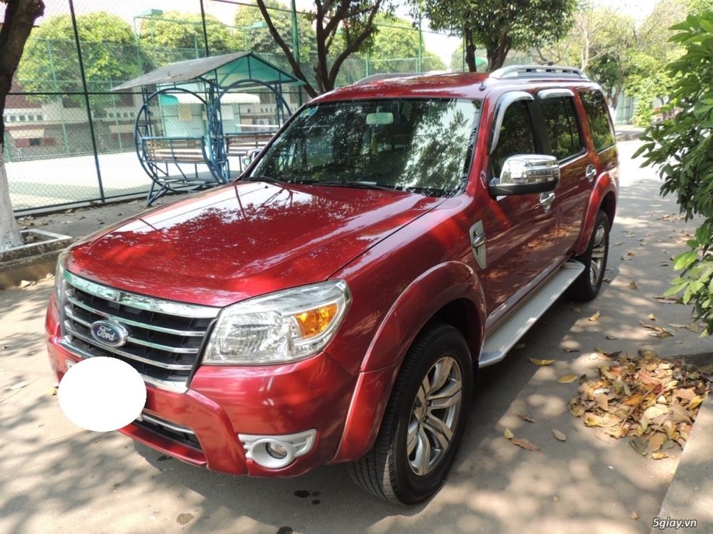 Ford Everest date 12/2012 2.5 MT máy dầu, màu đỏ - 4