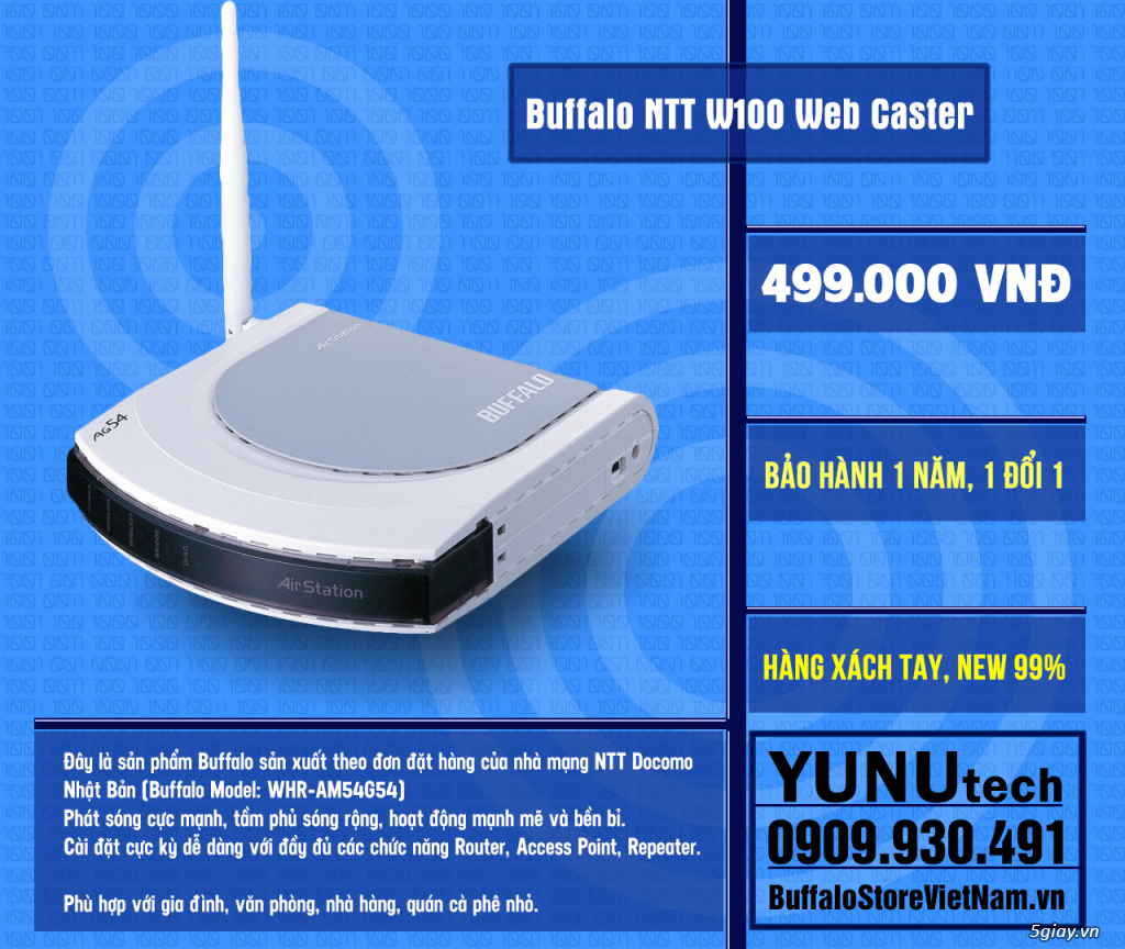 [YUNUtech] ROUTER WIFI BUFFALO - 3