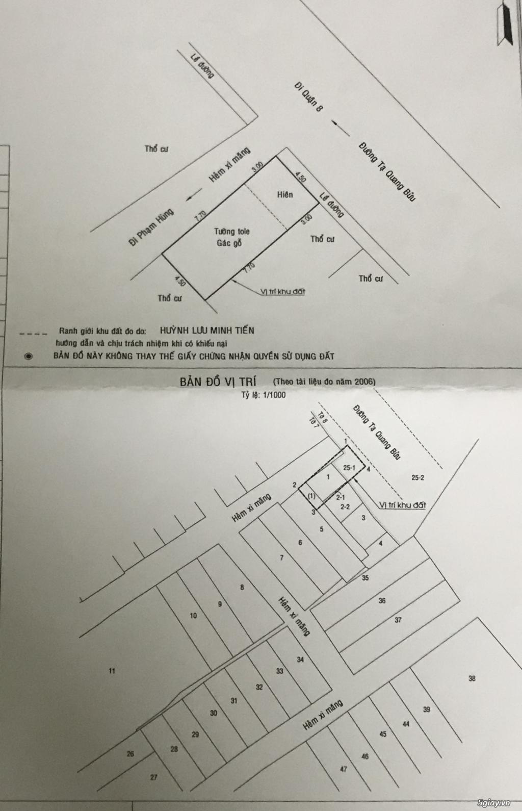 Bán nhà mặt tiền đường 783 Tạ Quang Bửu Q8, chính chủ - 4