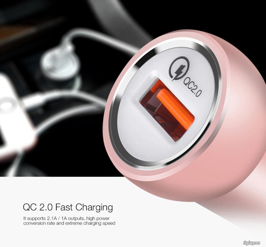 Sạc nhanh cho xe hơi ,công nghệ sạc nhanh 2.0 lên tới 12V,cable sạc .. - 3