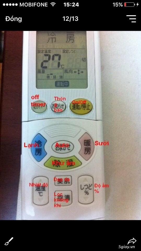 Điều Hoà DAIKIN,TOSHIBA hàng Nội Địa Nhật cũ inverter  gas R410A-R32đời víp 2016-2018 giá rẻ mới 90% - 15