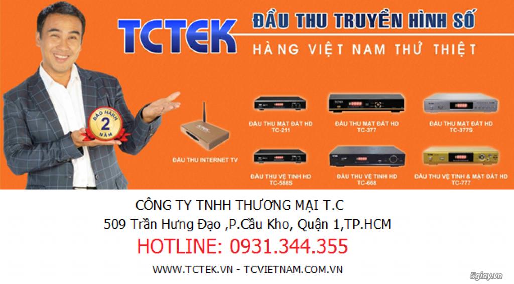 Cần tìm đại lý phân phối đầu thu DVB-T2 TCTEK giá tốt