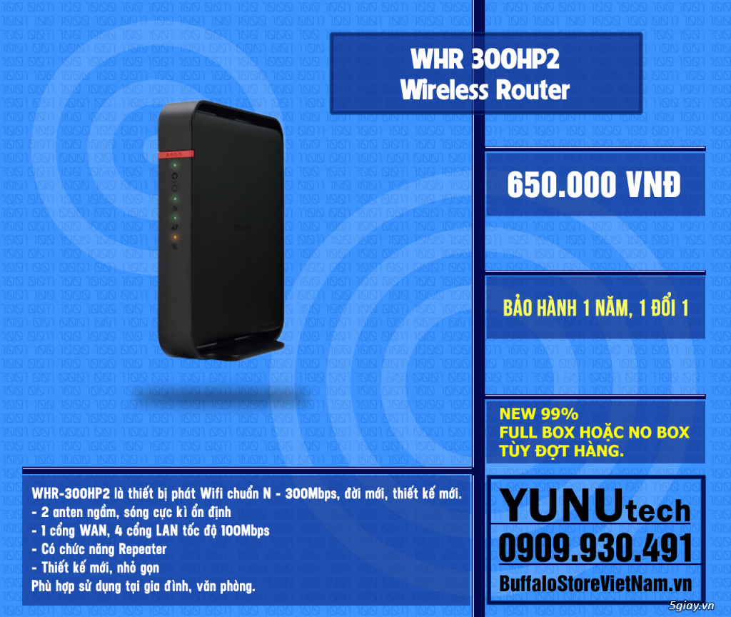 [YUNUtech] ROUTER WIFI BUFFALO - 4