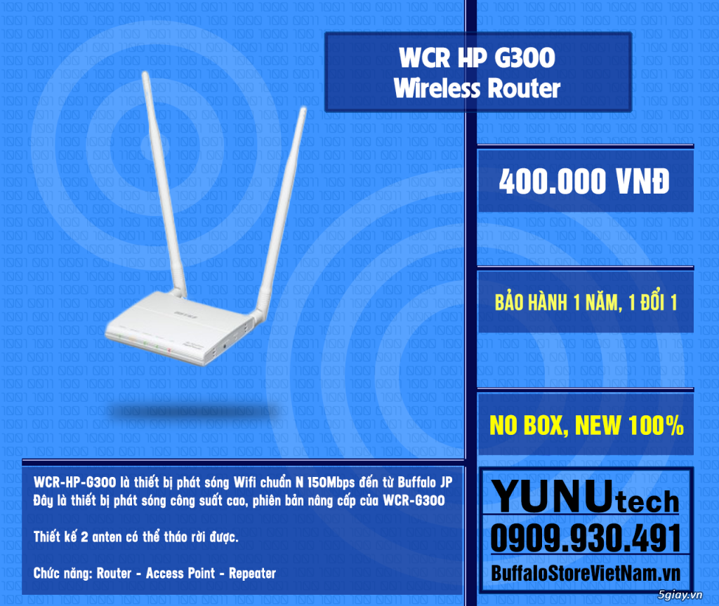 [YUNUtech] ROUTER WIFI BUFFALO - 2