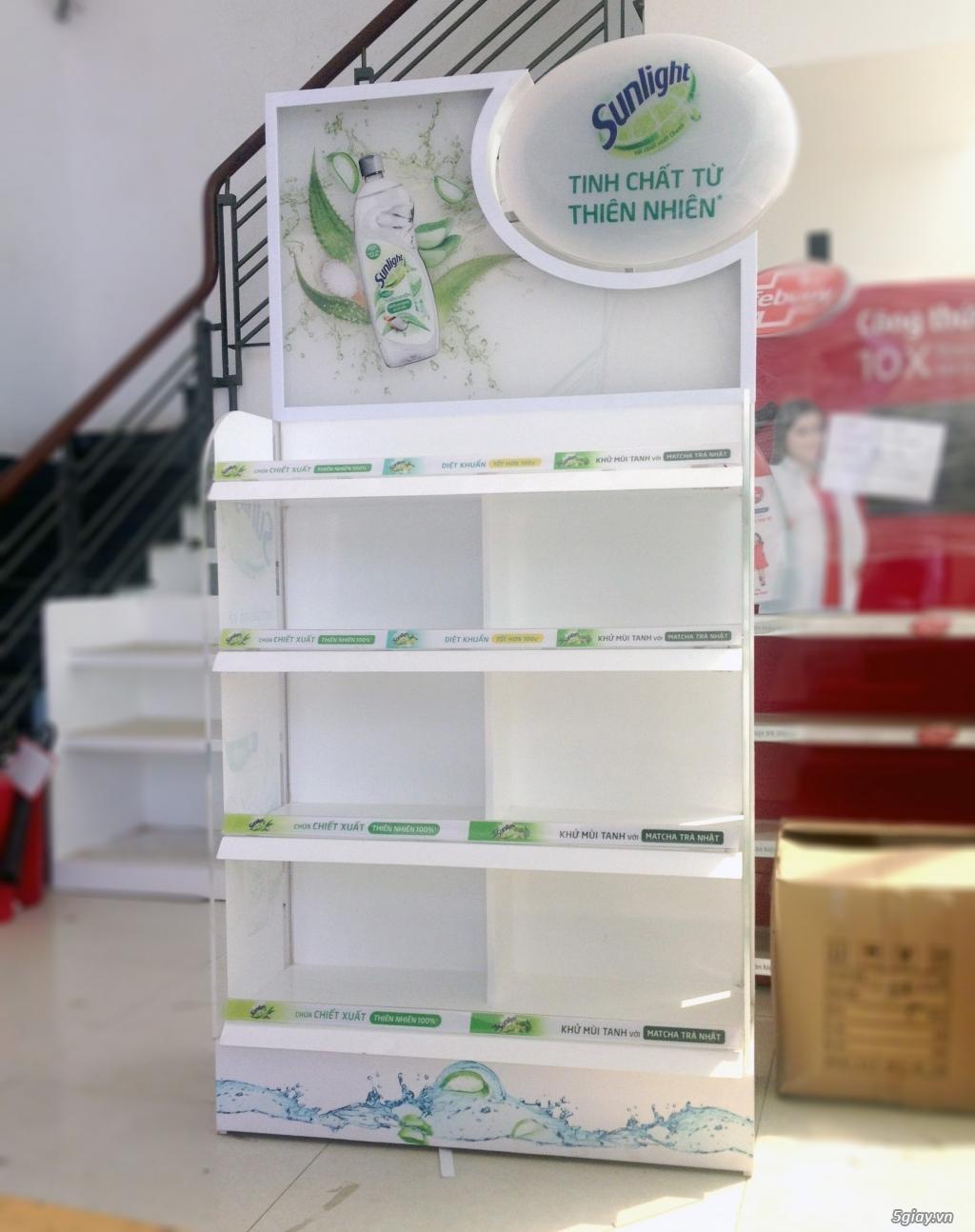 Sản xuất quầy kệ quảng cáo siêu thị, quầy kệ trưng bày hàng hóa - 1