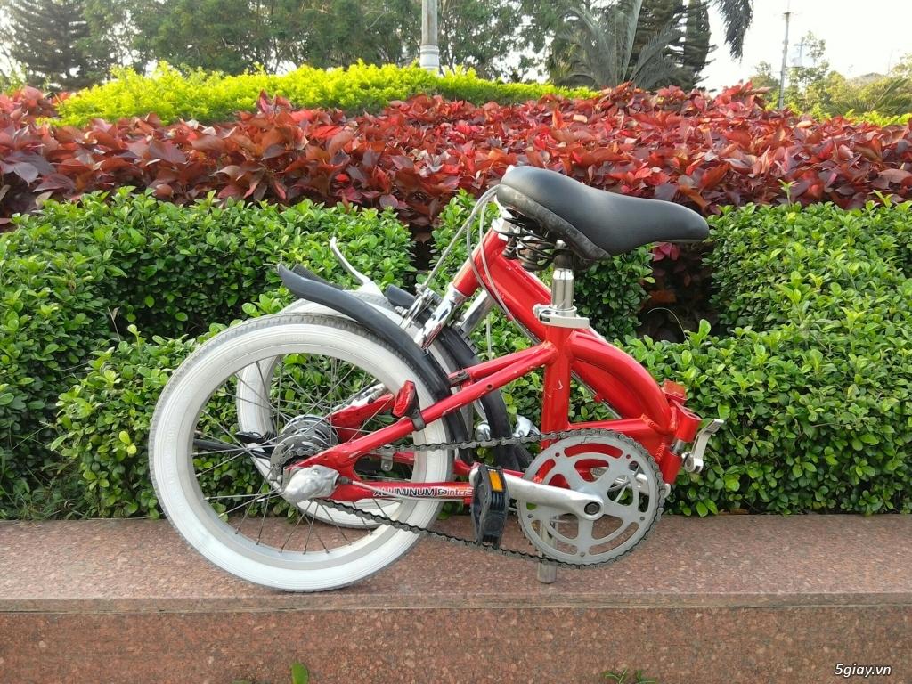 Xe đạp xếp Đỏ - Hàng bãi Nhật - 2