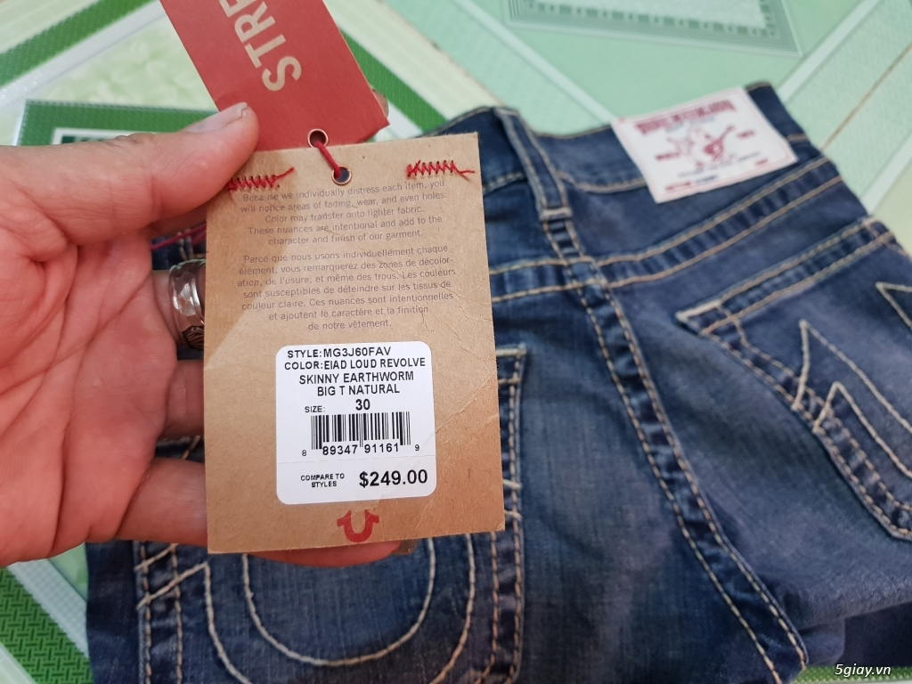 Quần jeans True religion(ông địa) chính hãng. - 3