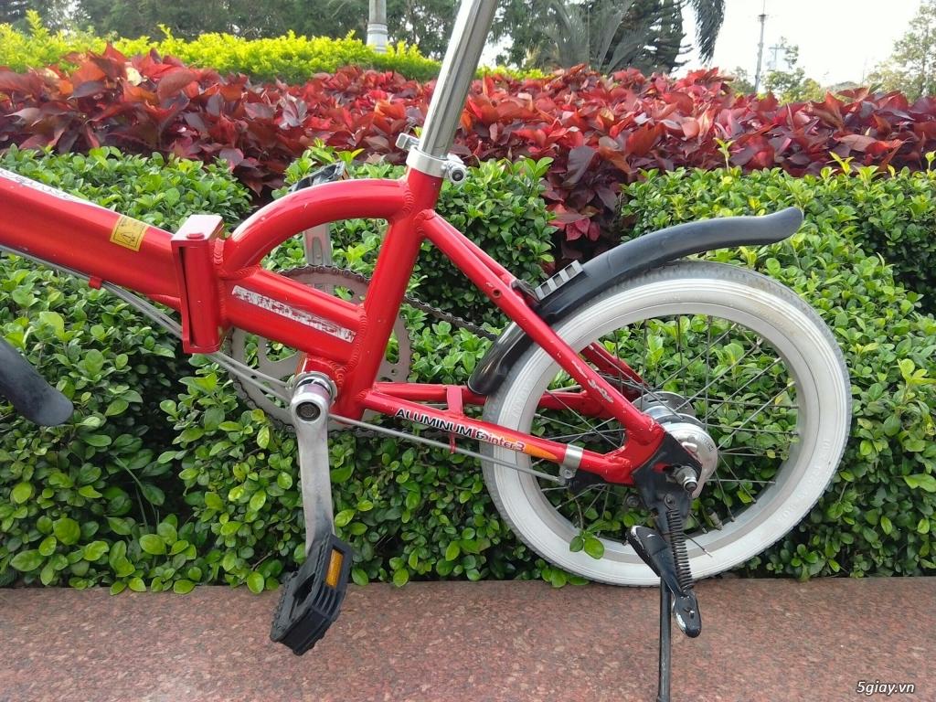 Xe đạp xếp Đỏ - Hàng bãi Nhật - 4