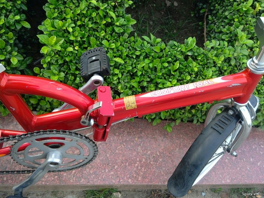 Xe đạp xếp Đỏ - Hàng bãi Nhật - 7