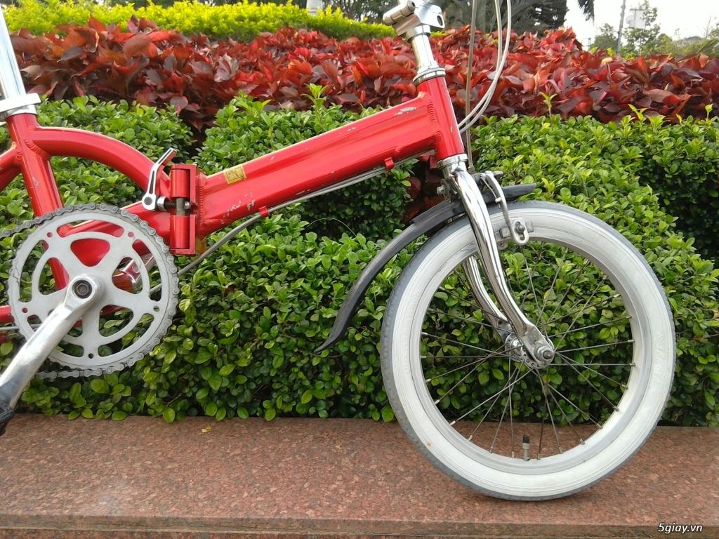 Xe đạp xếp Đỏ - Hàng bãi Nhật - 5