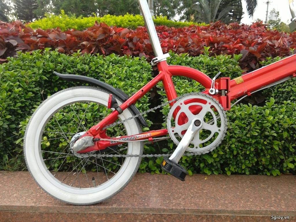 Xe đạp xếp Đỏ - Hàng bãi Nhật - 6