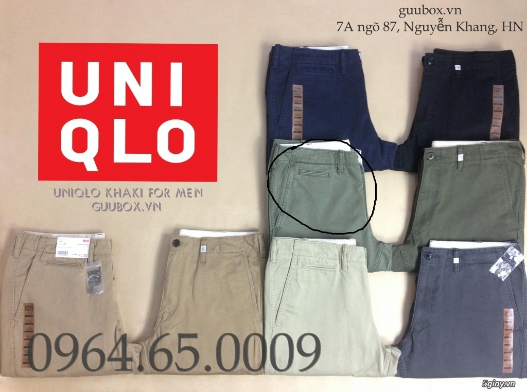 Quần kaki Uniqlo xuất Nhật chuẩn xịn . . 300k