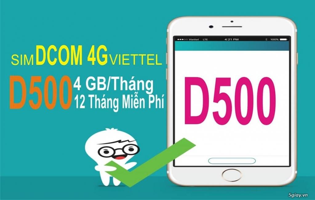 SIM 4G VIETTEL TRỌN GÓI 12 THÁNG KHÔNG CẦN NẠP TIỀN - 4GB/THÁNG