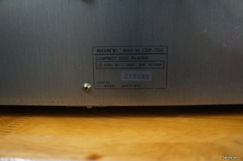Đầu CD SONY CDP-750 Hàng Nhật điện 100v - 4
