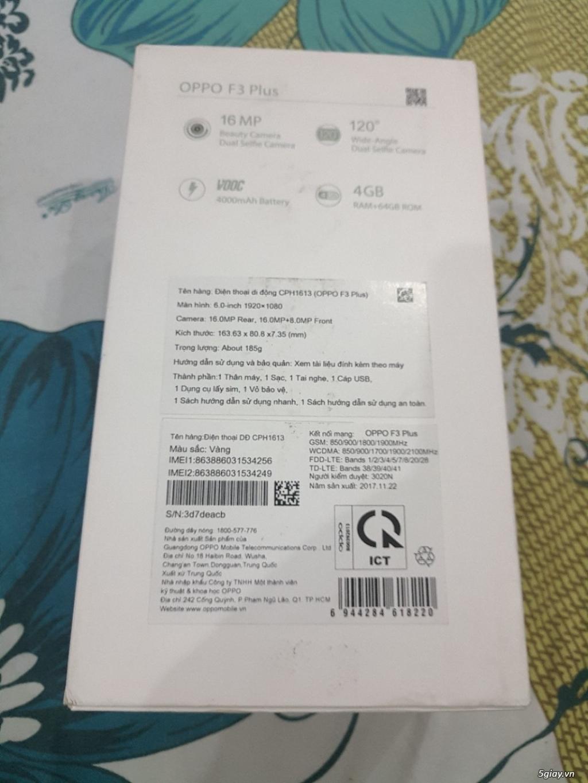 Oppo F3 Plus like new 99.99% hàng chính hãng Oppo VN BH 11 tháng - 4