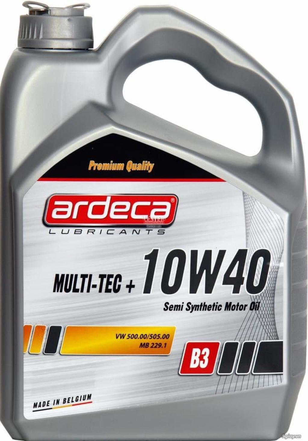 Dầu nhớt xe hơi cao cấp Ardeca. Đẳng cấp dầu nhớt Bỉ - 1