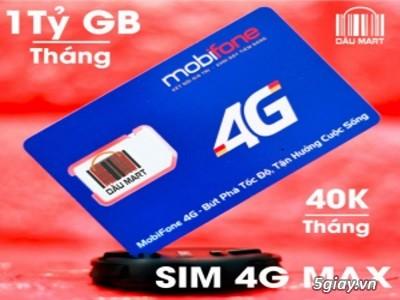 Sim 4G Mobifone Tỷ Gb - Sim 4G Chính Hãng --- chỉ với 40k/Tháng