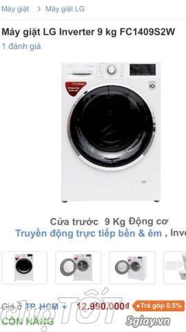 Máy giặt cửa trước LG 2018 Model FC1409S2W - 1