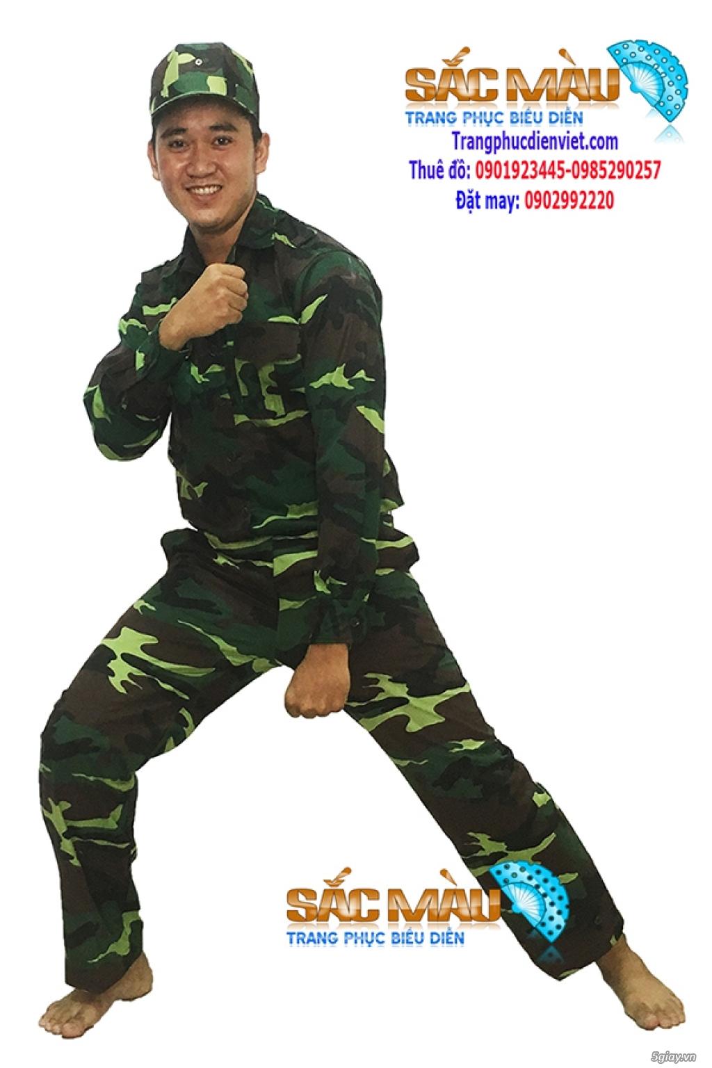 Cho thuê trang phục lính bộ đội, lính rằn ri giá rẻ quận 12, tphcm - 2