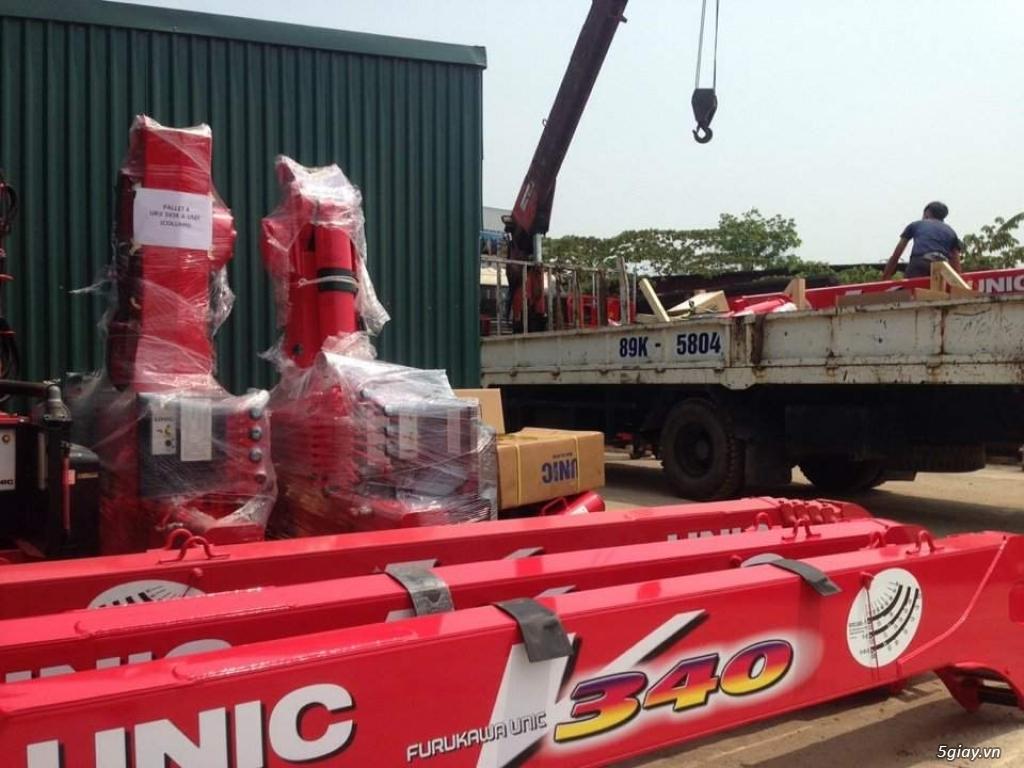 Bán cẩu tự hành UNIC (Nhật Bản) gắn trên xe tải Hyundai, Hino,Thaco... - 3