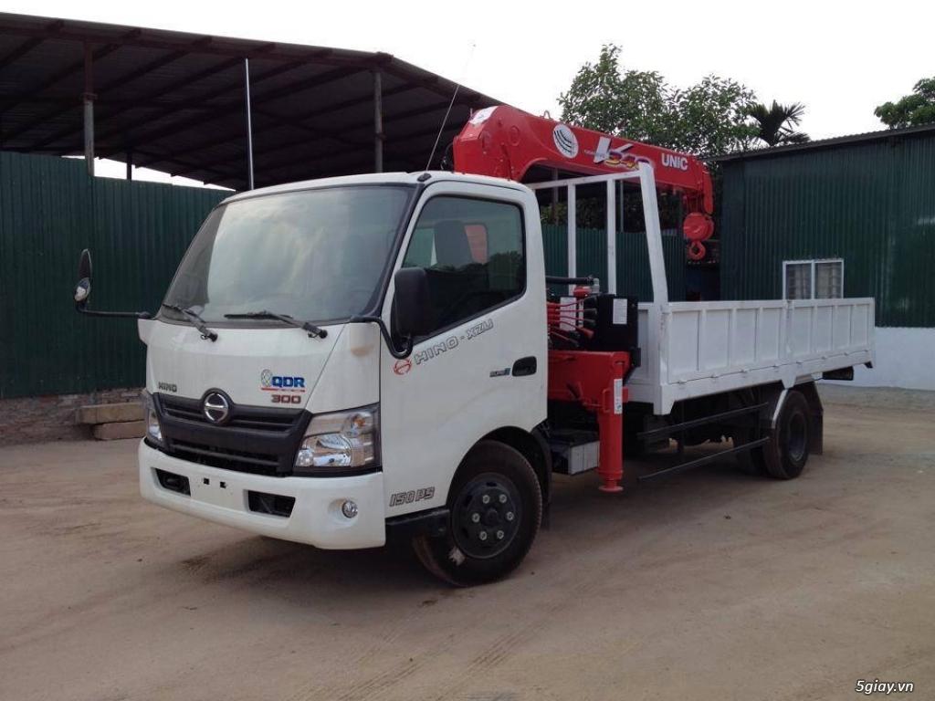 Bán cẩu tự hành UNIC (Nhật Bản) gắn trên xe tải Hyundai, Hino,Thaco...