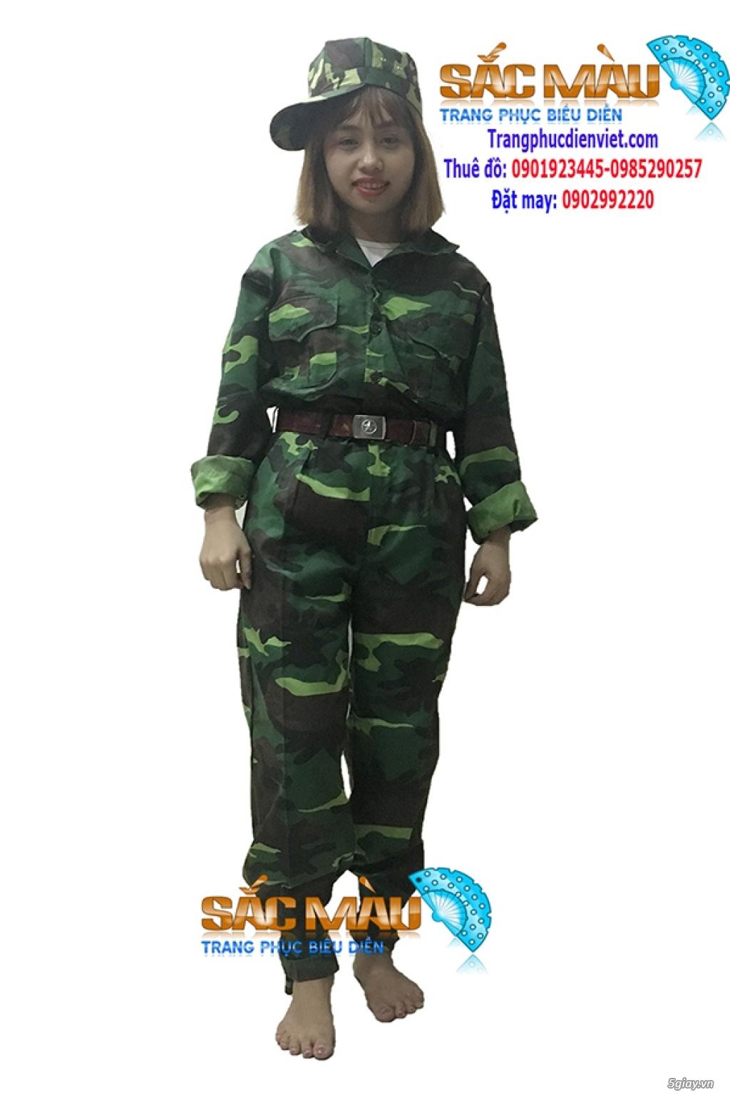 Cho thuê trang phục lính bộ đội, lính rằn ri giá rẻ quận 12, tphcm - 3