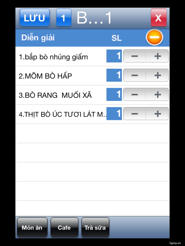 Phần mềm quản lý quán cafe, quán trà sữa TP. Hồ Chí Minh - 4