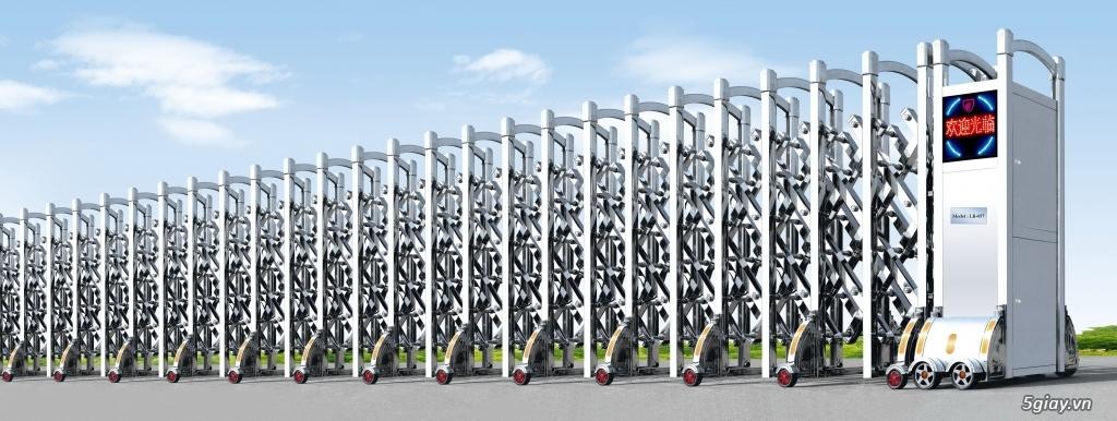 Chuyên bán thanh chắn barrie tự động, cửa cổng xếp inox 304, cổng xếp tự động- phan thiết