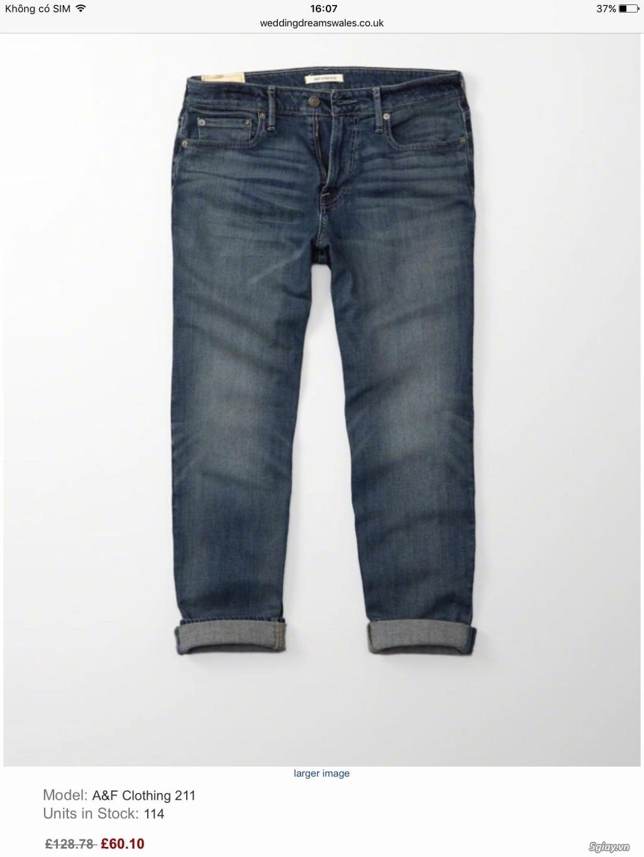 Cần thanh lý quẩn jeans abercrombie & fitch mua bên mỹ .