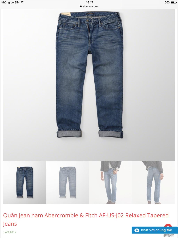 Cần thanh lý quẩn jeans abercrombie & fitch mua bên mỹ . - 4