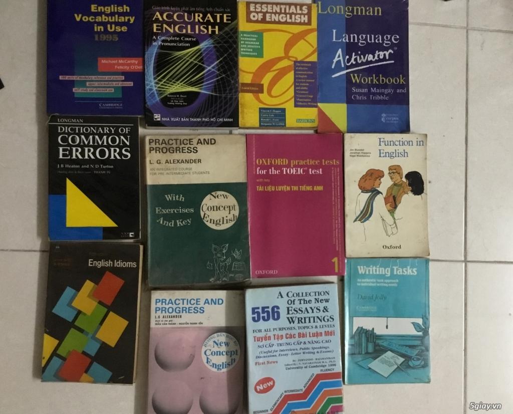 Sách truyện chữ + sách học tiếng Anh