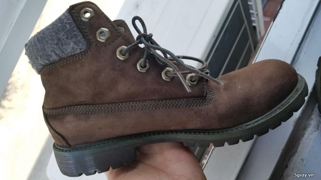 Giày boot Timberland bằng da xịn (hình thật)