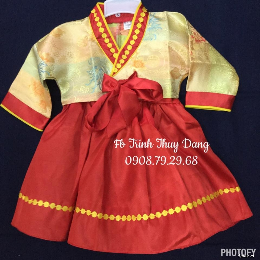 Áo dài truyền thống trẻ em , phục trang văn nghệ thiếu nhi tại tphcm . - 5