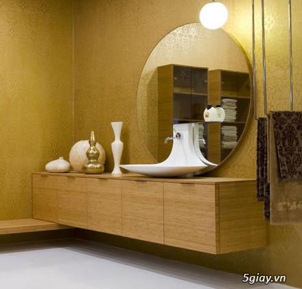 Bộ tủ Lavabo cao cấp được thiết kế đẹp, kiểu dáng hiện đại.