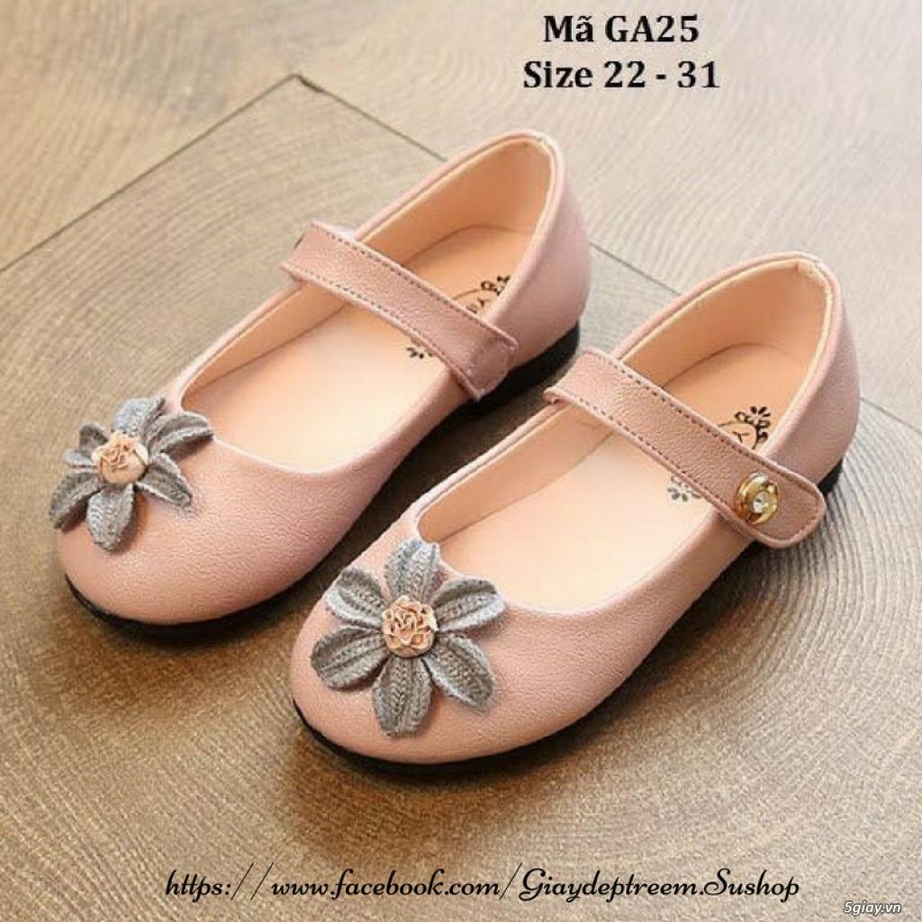 Giày búp bê đính hoa xinh xắn cho bé gái