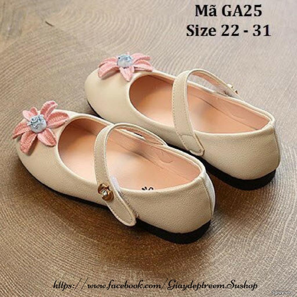 Giày búp bê đính hoa xinh xắn cho bé gái - 1