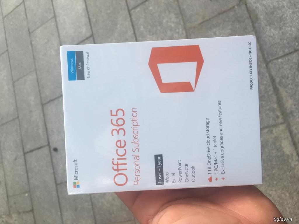 Office 365 Persional 1 năm bản quyền, nguyên seal + tem FPT phân phối