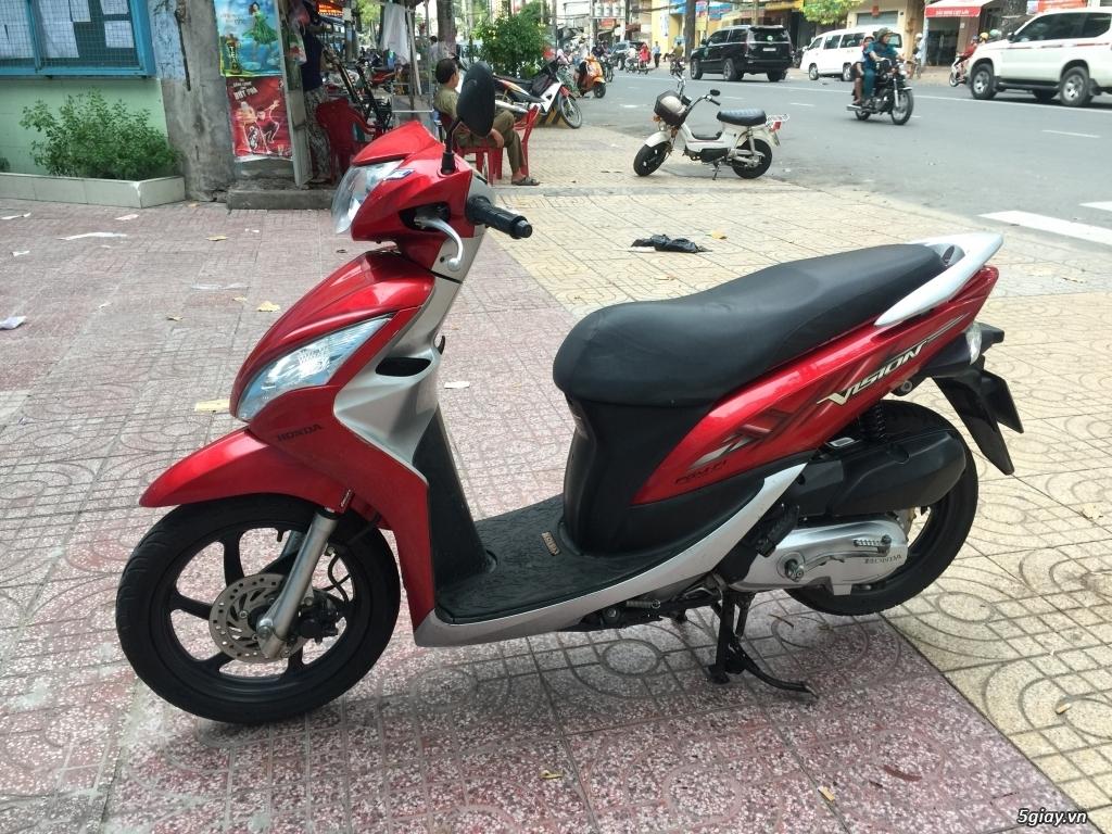 Cần bán Honda Vision 2012 đỏ bạc - 2