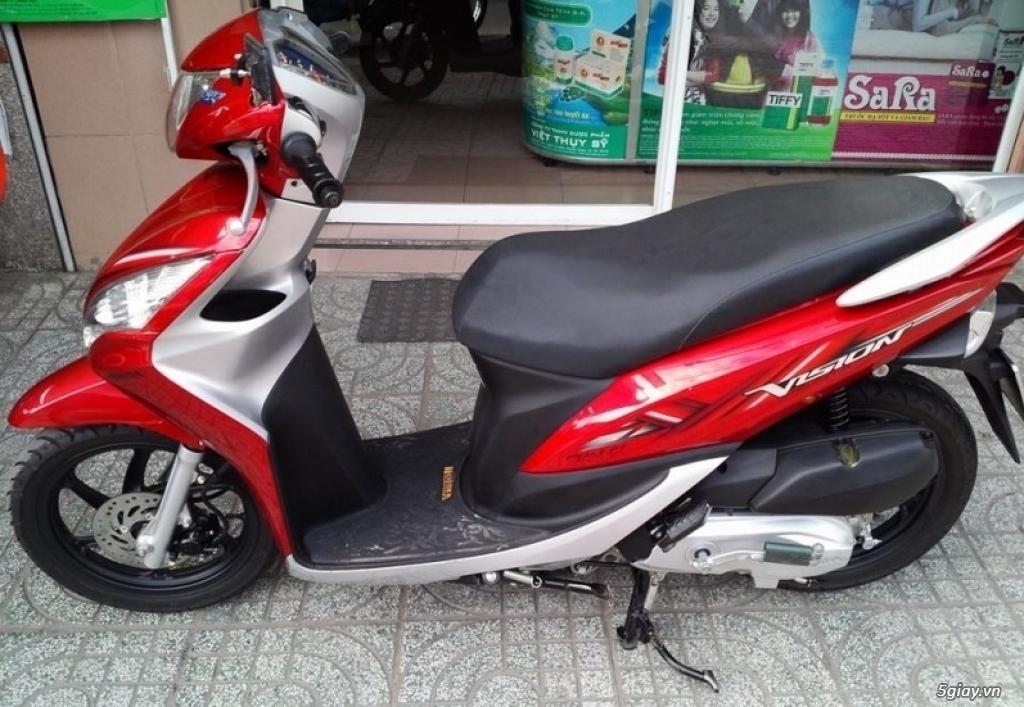 Cần bán Honda Vision 2012 đỏ bạc - 1