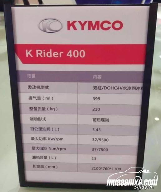 Kymco K-Rider 400 2018 -  Đánh giá hình ảnh & thông số kỹ thuật - 1