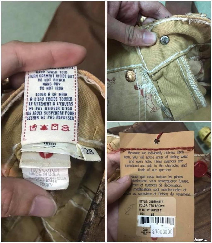 Quần jean si đa ( 2hand ) của các hãng Ông địa , D&G , A/X...  nhập từ USA , Italy ... - 40