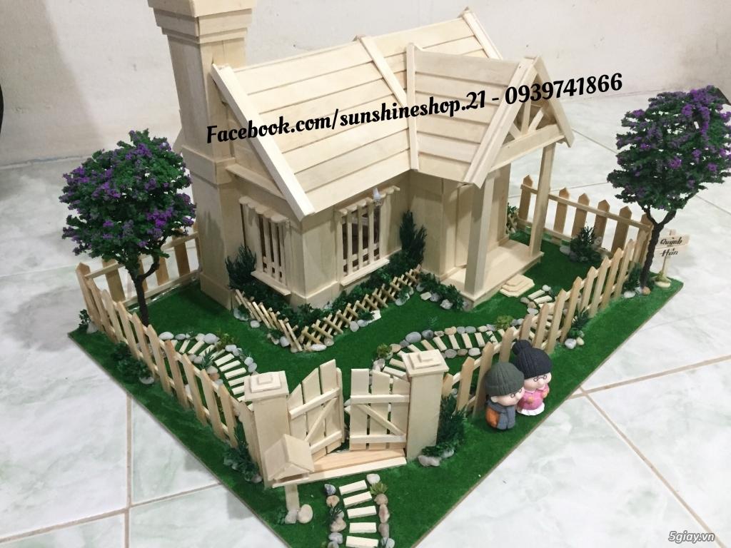 SunShineShop - Nhận đặt làm mô hình nhà que theo yêu cầu - 3