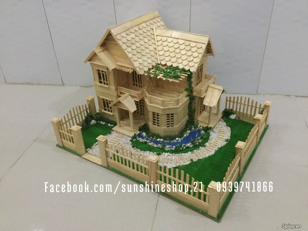 SunShineShop - Nhận đặt làm mô hình nhà que theo yêu cầu - 19
