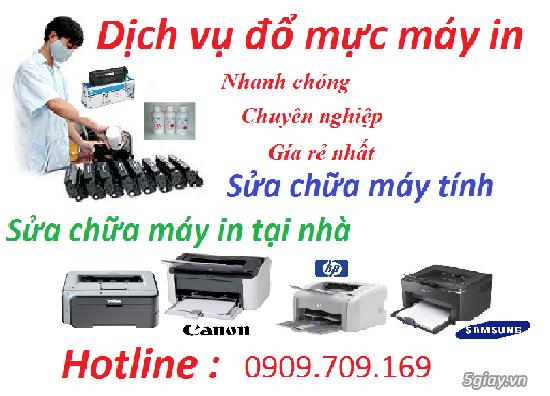 Dịch vụ nạp mực máy in quận Bình Tân giá rẻ - tại nhà 0909709169