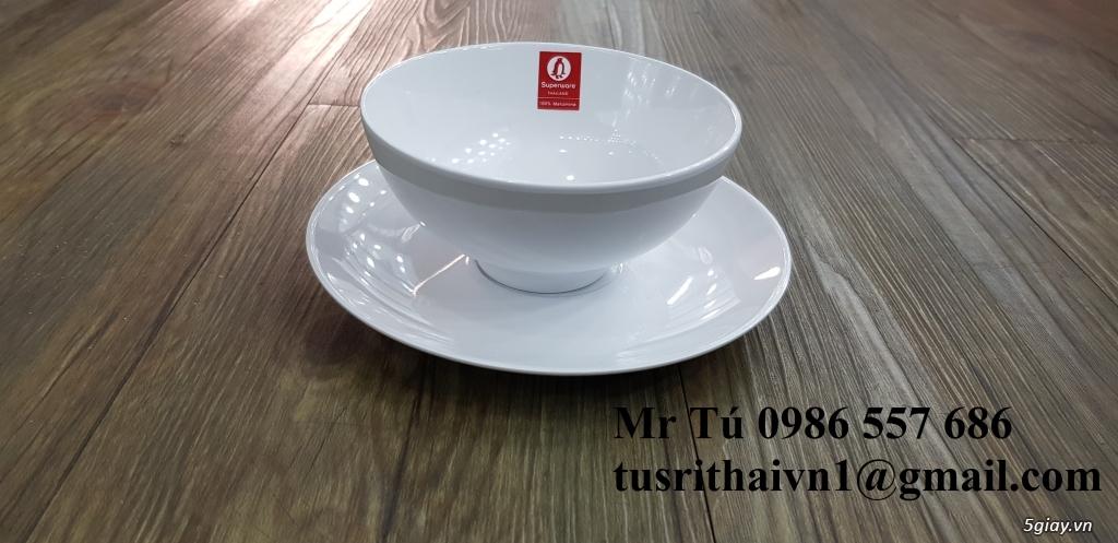Chén dĩa Melamine Superware Thái Lan dành cho nhà hàng khách sạn - 9