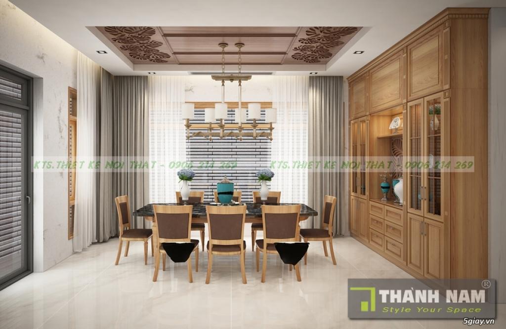 Thiết kế & Thi công Nội Thất bằng gỗ đỏ Nam Phi mẫu mới 2018