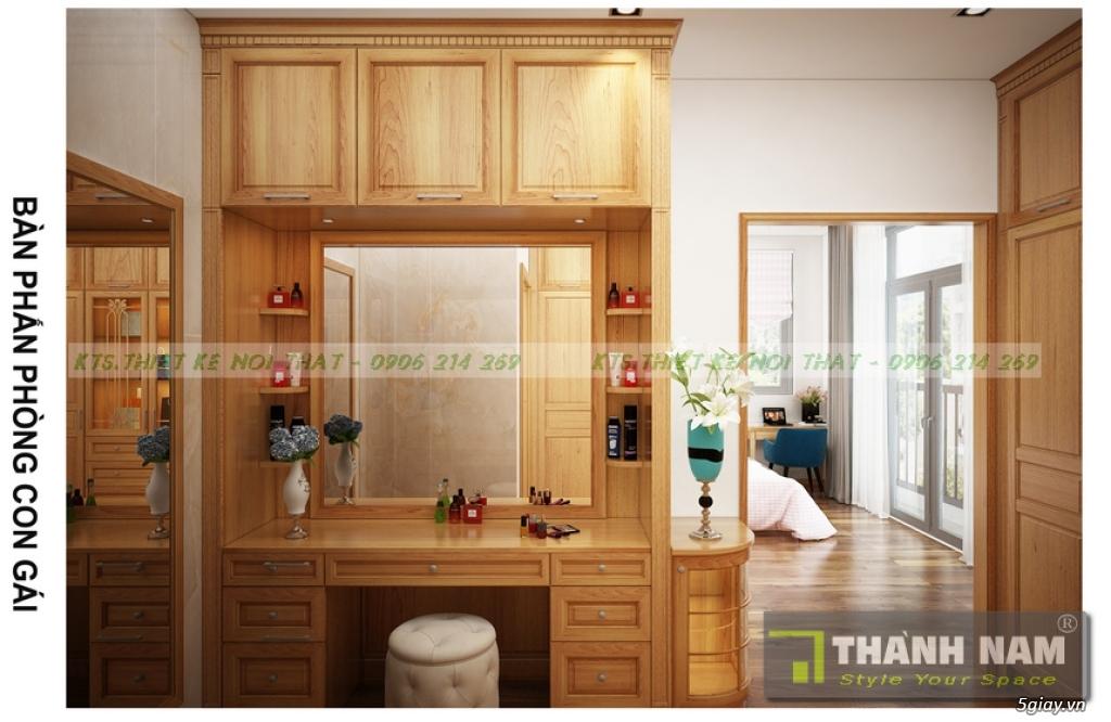 Thiết kế & Thi công Nội Thất bằng gỗ đỏ Nam Phi mẫu mới 2018 - 4